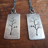 it stands the test of time reversible necklace, oxidized sterling silver
