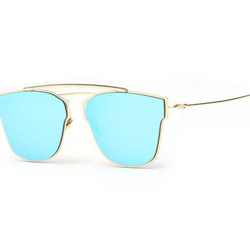 Maje Sunglasses - Blue/Gold