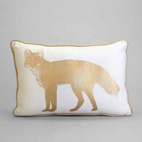 Plum & Bow Golden Fox Pillow- Gold One