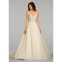 Noble Sweep A-line Sweetheart Neckline Backless Mesh Beading Wedding Dress