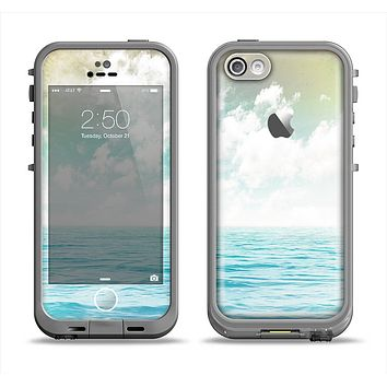 The Paradise Vintage Waves Apple iPhone 5c LifeProof Fre Case Skin Set