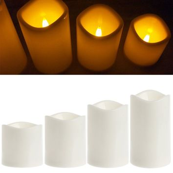 Romantic Flameless LED Electronic Candles Light Wedding Scented Wax Home Decor  OUY