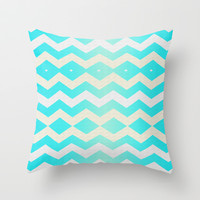 Diamond Chevron Throw Pillow by Sara Murello
