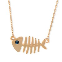 Fashion Fishbone Necklace Special Fish Love necklace Short Necklace