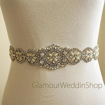 Wedding Crystal Belt Bridal Sash belt Crystal Belt Bridal Sash Belts  Rhinestone Belt