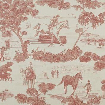 Ralph Lauren Fabric LCF18840F And They're Off Toil Pink/Cream