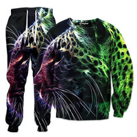 Abstract Leopard Tracksuit