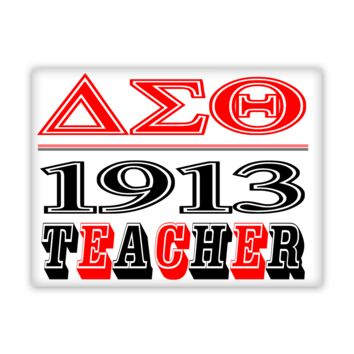 Delta Sigma Theta 1913 Teacher Fine Wall Art Canvas