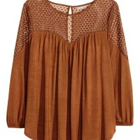 H&M+ Top with lace