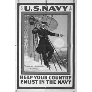 War Propaganda poster Metal Sign Wall Art 8in x 12in Black and White