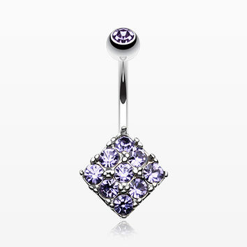 Sparkle Overload Belly Button Ring