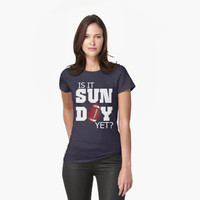 Is It Sunday Yet? Football T Shirt by bitsnbobs