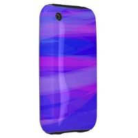 Abstract Ribbons of Blue and Violet Tough iPhone 3 Covers