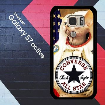 Astronaut Cat Converse W3097 Samsung Galaxy S7 Active Case
