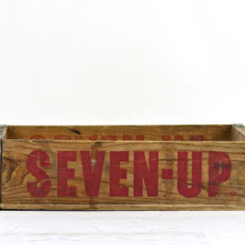 Soda crate, 7 Up Crate, Seven-Up Crate, Wood Crate, Vintage Soda Crate, Pop Crate, Wooden Crate, Industrial Decor