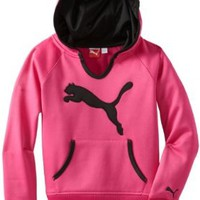 PUMA Big Girls' Active Core Pullover, Raspberry Rose, Medium