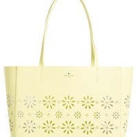 kate spade new york 'faye drive hallie' daisy perforated leather tote | Nordstrom