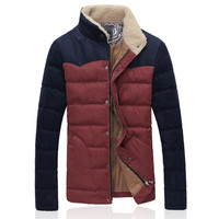 Vintage Men's Slim Fit Fashion Puffer Jacket