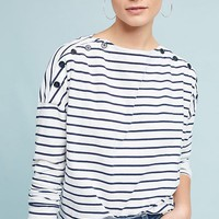 Stateside Boat Neck Stripe Top