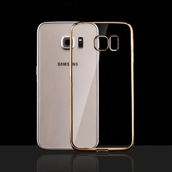 G530 Ultra Thin Clear Phone Cases For Samsung Galaxy Grand Prime G531 G531H G530W Case Luxury Plating Crysral Soft TPU Gel Cover