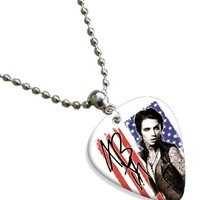Andy Biersack Black Veil Brides Premium Celluloid Guitar Pick Necklace ( Flag...