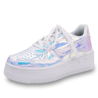 Holographic Mid Platform Sneakers