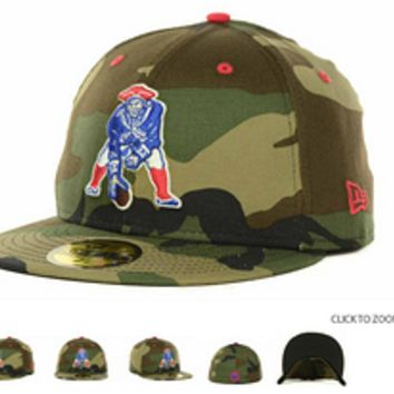 New England Patriots Pop Fifty Camo Fitted Hat
