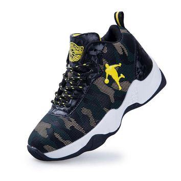 2018 New Style Camouflage Print Kids Basketball Shoes for Boys Outdoor Sneakers Girls Trainers Children's Sport Shoes