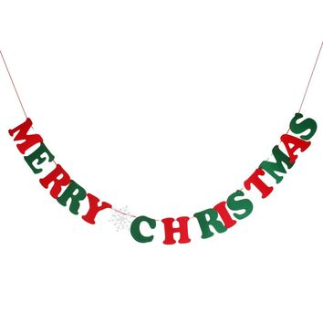Merry Christmas Bunting Garland Banner Party Decoration