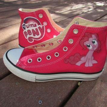 DCCK1IN custom painted my little pony friendship is magic pinkie pie youth size 2 converse