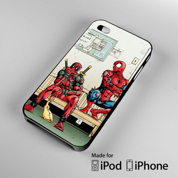 Funny Spiderman and Deadpool iPhone 4 4S 5 5S 5C 6, iPod Touch 4 5 Cases