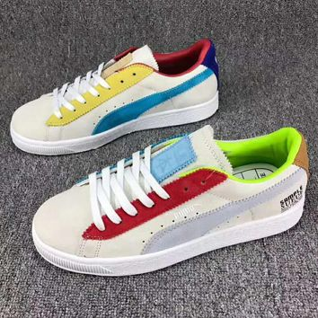 Puma Sample Michaellau Trending Casual Sport Running Shoes Low Help Rainbow Couple Shoe I-CSXY