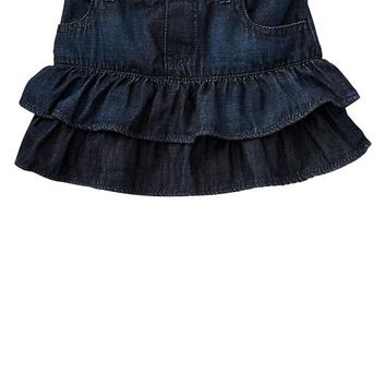 Gap Baby Factory Ruffle Denim Skirt