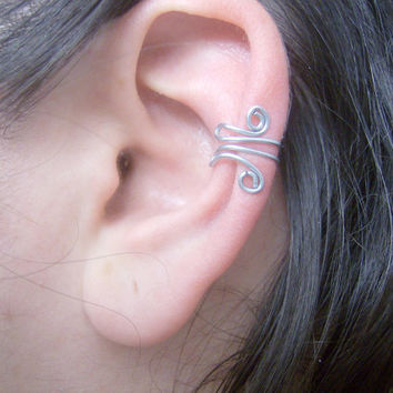 Spiral Wire Ear Wrap Cuff