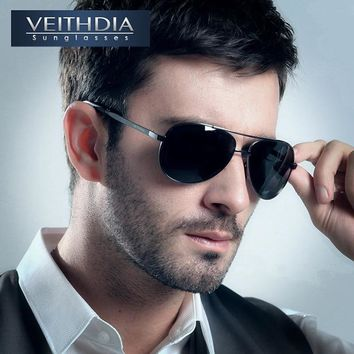 VEITHDIA Brand Men's Pilot New Polarized Sunglasses men Sun Glasses Alloy Frame Driving Glasses oculos de sol masculino shades
