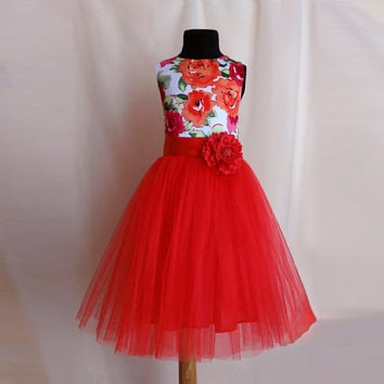 Flower Girl Tutu Dress, Tulle Wedding Dress for Girls, Birthday Dress, Girls Tutu Dress