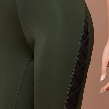 Ivy Park Lace-up Detail Leggings at PacSun.com - olive | PacSun