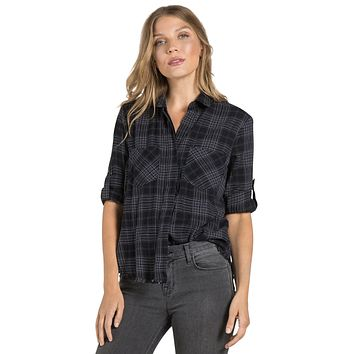 Fray Hem Split Back, Charcoal