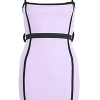 Zendaya Edit Belted Square Neck Bodycon Dress | Boohoo