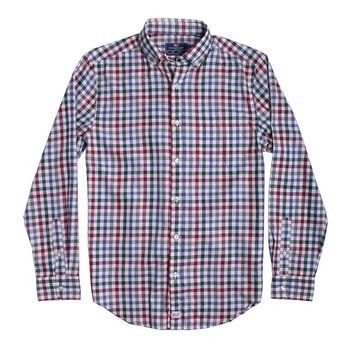 Custom Tin House Check Classic Murray Shirt in Moonshine by Vineyard Vines