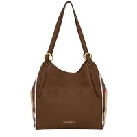Burberry Women's Small Canter and House Check Bag Tan