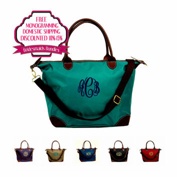 Monogrammed Bridesmaids Bag Bundles Solid Color Sold In Sets of Seven, Eight, or Nine Discounted 15%, Free Monogramming, and Shipping