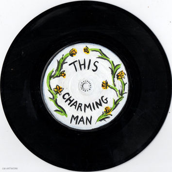 "The Smiths Lyrics - 'This Charming Man'  7"" Painted Vinyl"