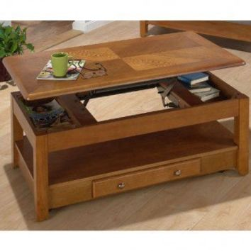 Jofran Tucson Lift-Top Cocktail Table in Sedona Oak - 480-1 - Accent Tables - Decor