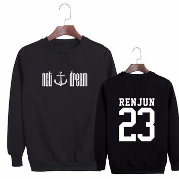 NCT DREAM Kpop Hoodies Pullover Moleton We Young Harajuku Boyfriend Style Unisex Sweatshirt Cotton Fleece Coat Women Men