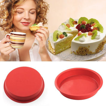 8 Inches Non-stick Silicone Cake Pans / Pie Bread Loaf Baking Dishes / Cake Mold Bakeware Tools For Microwave And Oven