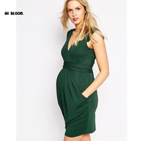 Valentine Gift Pregnant Women Evening Party Dress Elegant Summer Lady Vestidos Maternity Clothes Plus Size Maternity Dresses