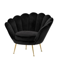 Black Shell Shaped Chair | Eichholtz Trapezium
