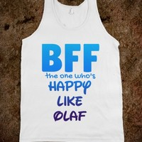 BFF THE ONE WHO'S HAPPY TANK - CARTOON CHARACTER SERIES (IDB110456)