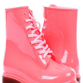 Never Worn Pink Jelly Boots (EU size 37, US size 6.5)
